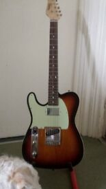 Left handed reverlation Rte custom telecaster guitar reduced to move