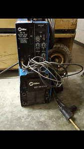 Miller xmt 350, push pull gun and pulse control