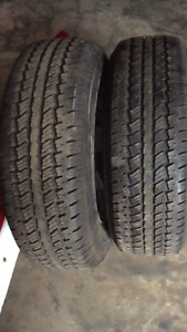 2 firestone 235/r70/16 tires with rims