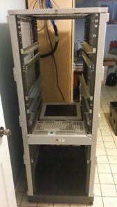 HP 33U server rack and accessories