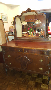 Gorgeous antique Lady Dresser with mirror.