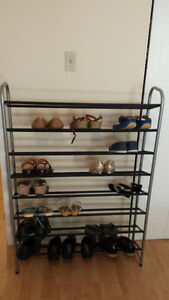 2 Shoe Racks (one 32 pairs and other 8) ($15)