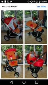 Quinny buzz stroller with bassinet