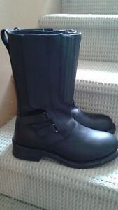 Men's Biker boots, worn 2x. new. size 10 XX wide