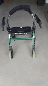 Green Walker with Wheels and Seat