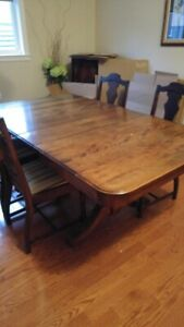 antique dining set - walnut from 1920s