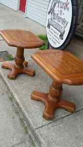 CANADIAN MADE PINE END TABLES (PR.) London Ontario image 1