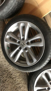 """4 mags 17"""" with all season tires"""