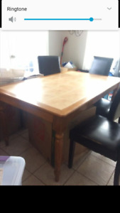 Ceramic Tile Hardwood Kitchen Table