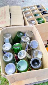 6 cases of wine bottles