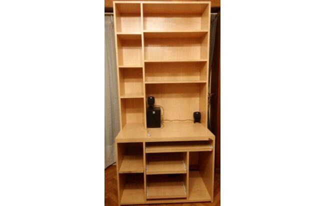 modulo escritorio pc y biblioteca