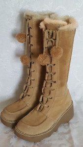 Gorgeous Suede Ladies Tall Winter Boots 6.5 (36)