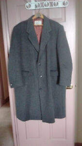 Italian Wool and Cashmere winter coat.  50 Reg