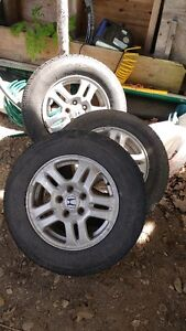 3 Honda Winter Tires and Rims