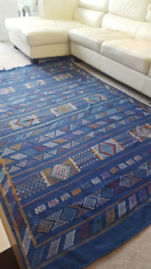Genuine Handmade Moroccan Rug from the Blue City (Chefchaouen)