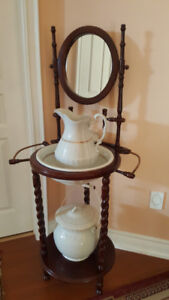 Antique Wash Basin with Stand