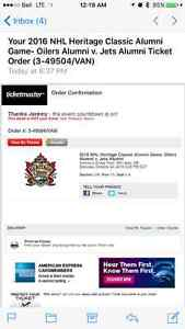 2 tickets to heritage jets vs oilers sat oct 22