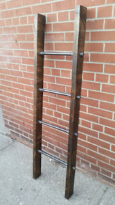 Fathers day gift || Industrial pipe and wood blanket ladder