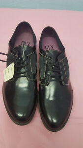 Fly London Pawl Black Mens Shoes, Brand New