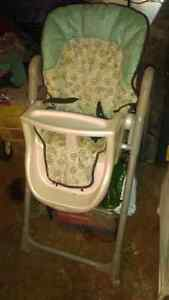 Baby stroller with car set and a high chair Cambridge Kitchener Area image 2