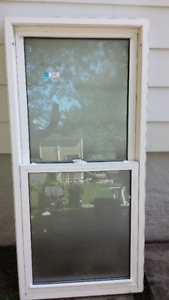 Frosted double hung  vinyl window