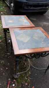 Wrought iron hall tables