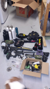 Paintball markers and gear