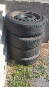 All season tires with steel rims
