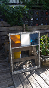 Vintage Frame highlighted with Stained Glass