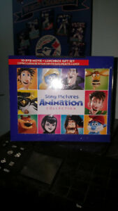 SONY  ANIMATION  10 DVD COLLECTION TIN LUNCH BOX  BRAND NEW
