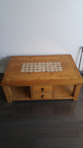Beautiful coffee  table with tile inlay