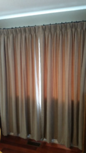 lined pleated curtains
