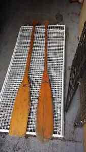 Wood oars - paddles... 5 foot-long..2 for. $50