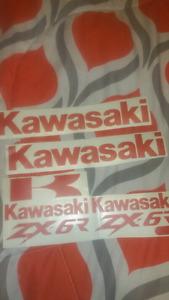 Kawasaki ninja zx6r decal sticker