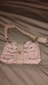 Pink and Rose Gold Coach purse