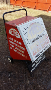 VINTGE TRICO WINDSHIELD  WIPET DISPLAY CART/CABINET;