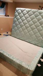 Queen size bed $300 . LOCATED IN TABER