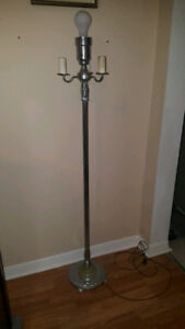 Vintage Glass and Chrome Floor Lamp