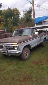 77 Ford 1/2 ton 4X4 SHORT BOX