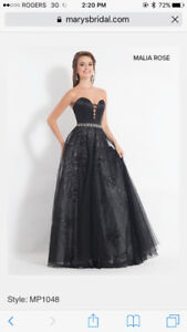 Black Malia Rose prom dress size 12-14