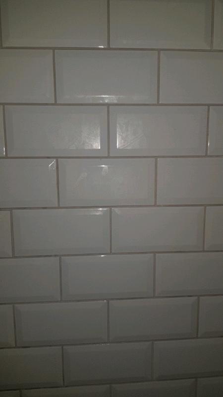 SOLD White metro tiles (bevelled edge)   in Southside, Glasgow   Gumtree