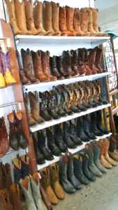 OVER 100 PAIRS OF COWBOY BOOTS! DON'T PAY RETAIL FOR STAMPEDE!