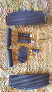 Harley Davidson Fatboy floor boards and accessories