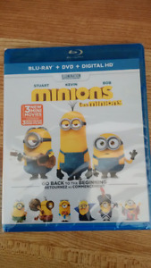 "New Sealed ""Minions"" Blu-Ray+DVD+Digital HD"
