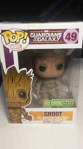 Rare Lootcrate Exlusive Glow In The Dark Groot Funko Pop