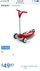Radio Flyer-My first scooter sport Smoke and pets Free