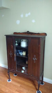 Antique cabinet/brown wood cabinet/black cabinet