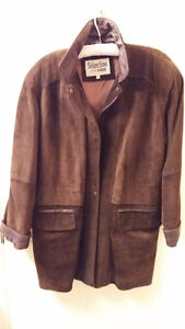 BEAUTIFUL CHOCOLATE BROWN SUEDE CAR COAT Cambridge Kitchener Area image 1
