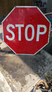 Stop! Extra Large Vintage Sign