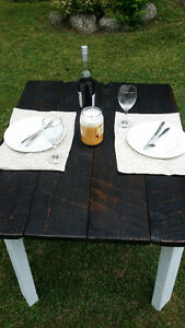 Harvest table - Apartment sized, Made from reclaimed barn wood